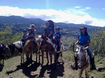 family horseback riding at Sabine's Smiling Horses