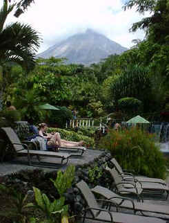 arenal volcano and hot springs relax after a day of horseback riding